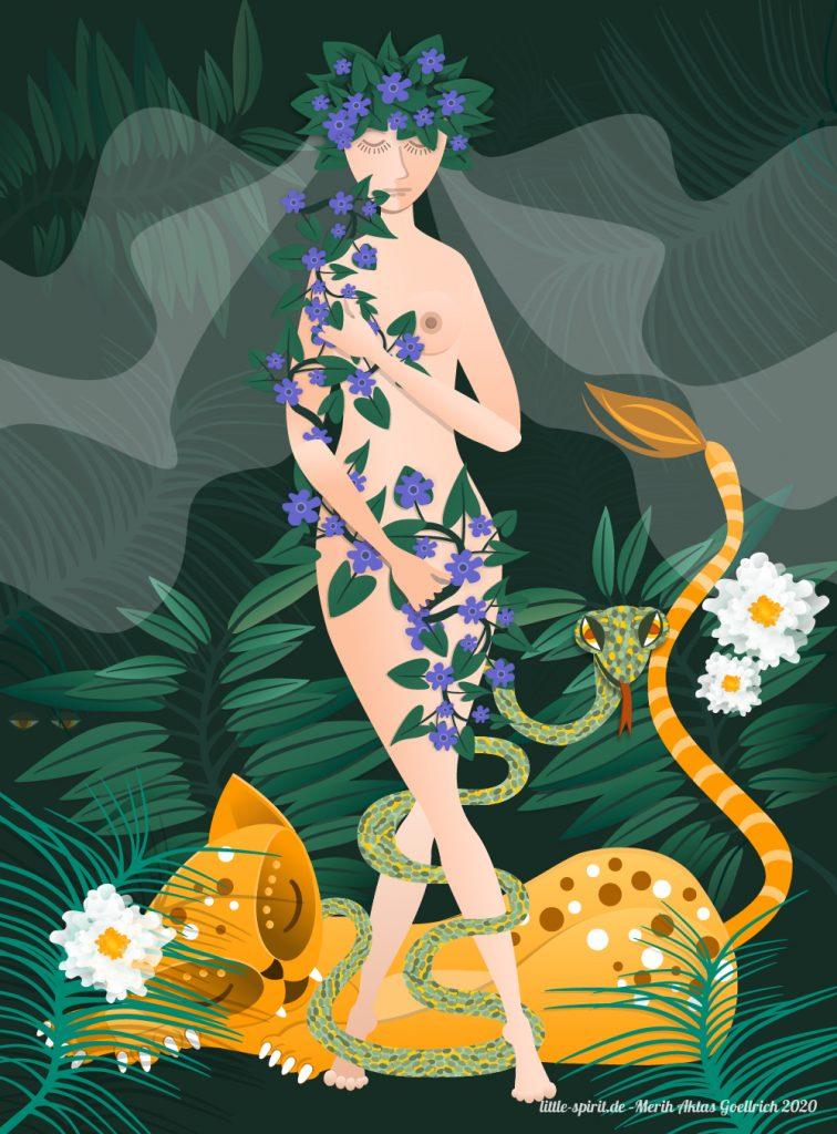 Illustration Mutter Natur designed by Merih Aktas Goellrich