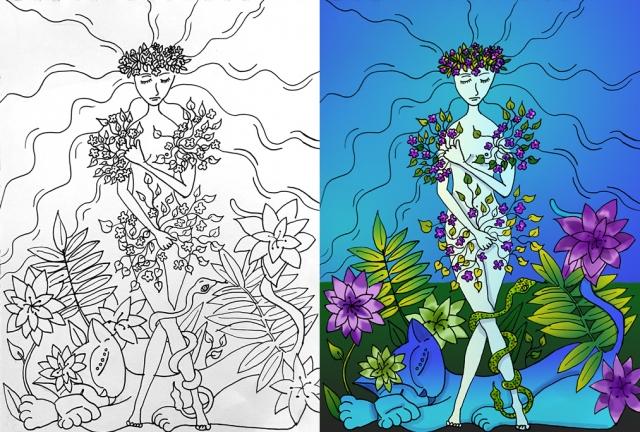 Skizzen: Mutter Natur design-merih-aktas-goellrich