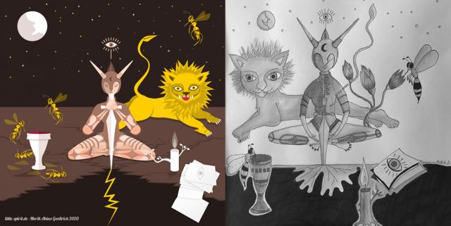 Zeichnung & Illustration Die Entscheidung Design Merih Aktas Goellrich